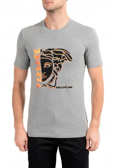 Versace Collection Men's Gray Graphic Crewneck T-Shirt