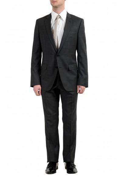 """Hugo Boss """"Huge6/Genius4"""" Men's 100% Wool Dark Gray Slim Two Button Suit"""