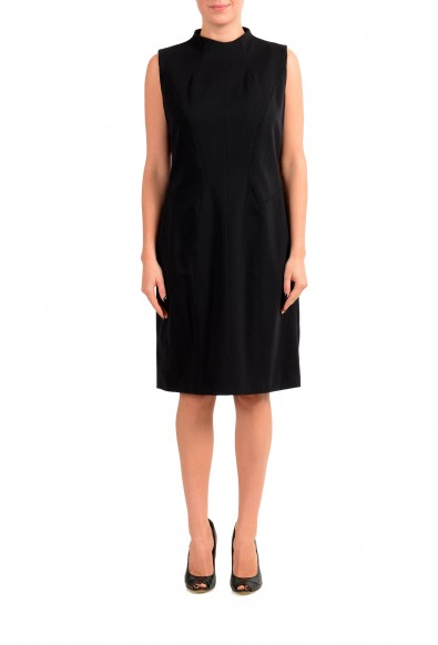 "Hugo Boss Women's ""Kihara"" Black Stretch A-Line Dress"