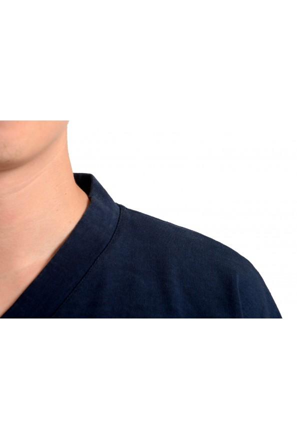 Jil Sander Men's Blue V-Neck Long Sleeve Sweatshirt: Picture 4