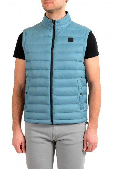 """Hugo Boss """"Chroma"""" Men's Teal Blue Down Full Zip Vest"""