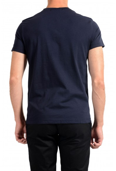Roberto Cavalli Men's Navy Blue Graphic Print T-Shirt : Picture 2