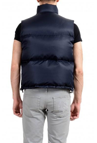 Versace Men's Blue Down Logo Full Zip Sleeveless Parka Vest: Picture 2