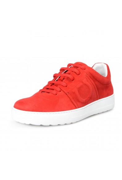 "Salvatore Ferragamo Women's ""FASANO"" Red Suede Leather Fashion Sneakers Shoes"
