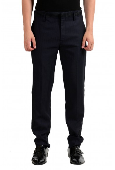 Marc Jacobs Men's Navy Blue Linen Dress Pants