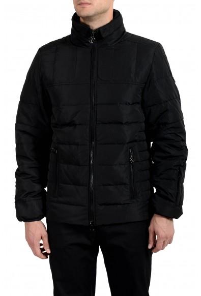 Roberto Cavalli Men's Down Black Full Zip Parka Jacket