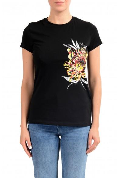"Roberto Cavalli ""Sport"" Women's Black Graphic Print Crewneck T-Shirt"