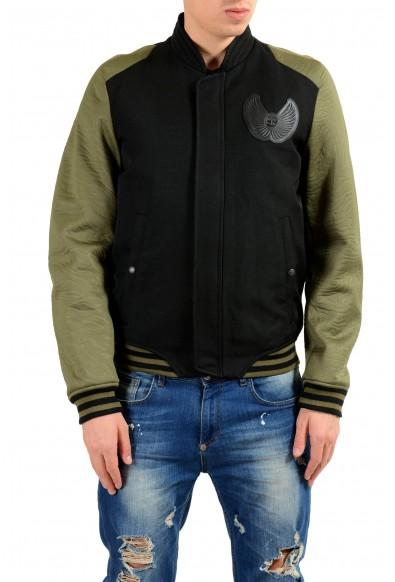 Just Cavalli Men's Wool Two Tones Full Zip Bomber Padded Jacket