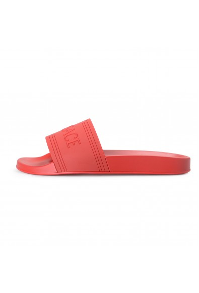Versace Men's Red Rubber Flip Flops Shoes: Picture 2