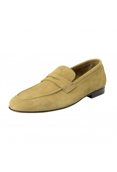 Malo Men's Olive Green Suede Leather Slip On Moccasins Shoes