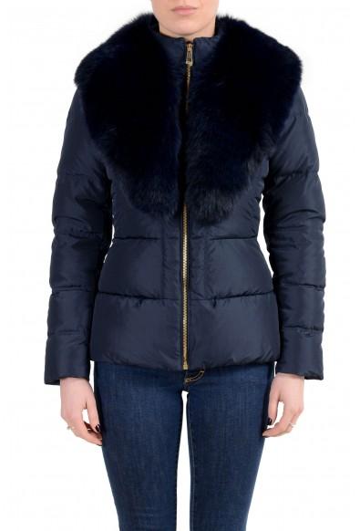 Versace Collection Women's Down Fox Fur Collar Parka Jacket