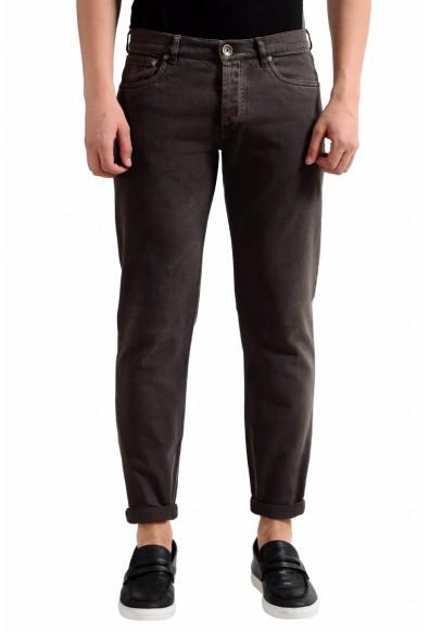 Brunello Cucinelli Men's Dark Brown Slim Fit Jeans