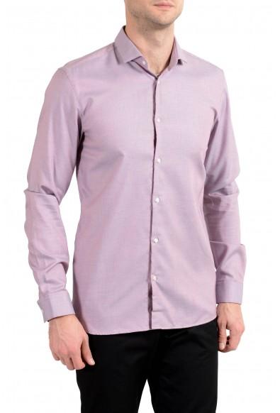 "Hugo Boss ""Erondo"" Men's Slim Purple Long Sleeve Dress Shirt"