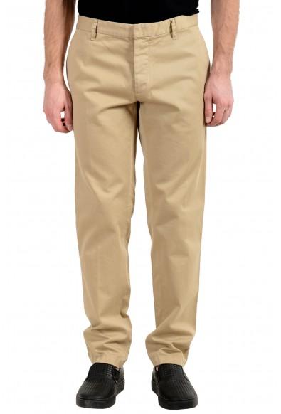 Dsquared2 Men's Beige Flat Front Casual Pants