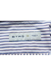 Etro Men's Multi-Color Striped Long Sleeve Button Down Casual Shirt: Picture 5