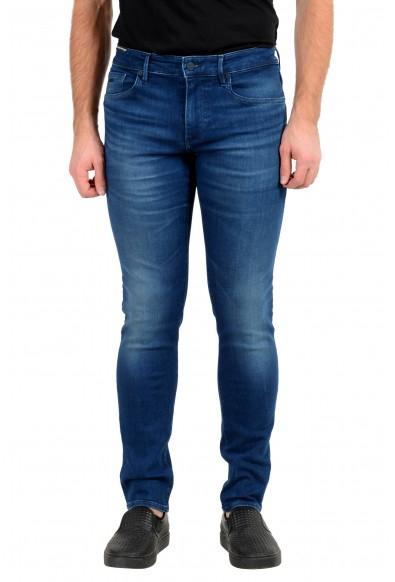 "Hugo Boss Men's ""Charleston BC"" Extra Slim Fit Blue Wash Stretch Jeans"