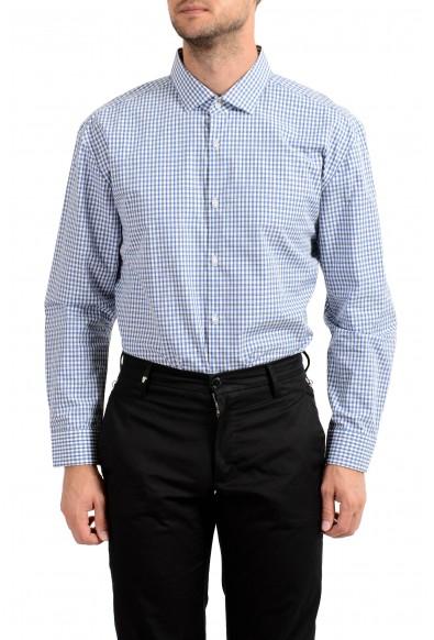 "Hugo Boss Men's ""EastonX"" Slim Fit Plaid Long Sleeve Dress Shirt: Picture 2"