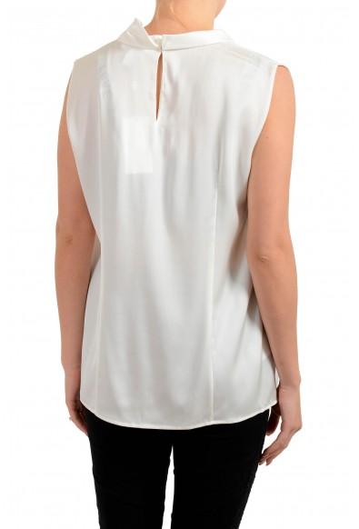 "Hugo Boss Women's ""Lyabo"" Ivory Silk Sleeveless Blouse Top: Picture 2"