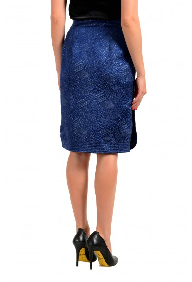 Malo Women's Royal Blue Silk Quilted Skirt : Picture 2