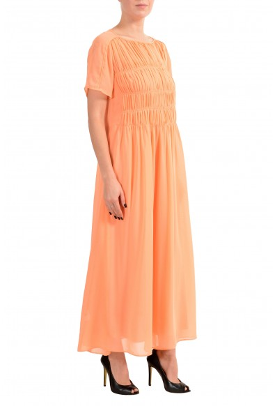"Hugo Boss ""Dekassa"" Women's Orange Short Sleeve Maxi Dress: Picture 2"