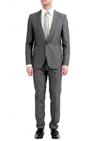 "Hugo Boss ""Arti/Hesten182"" Men's Extra Slim Fit Wool Gray One Button Suit"