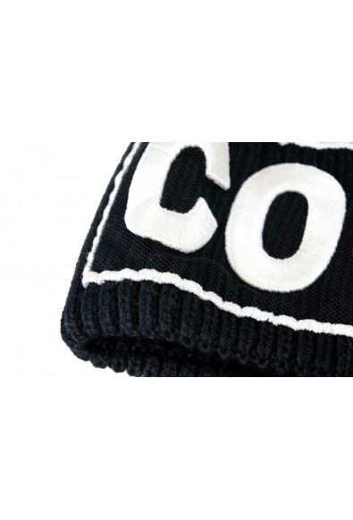 "Versace ""Courage"" Unisex 100% Wool Black Beanie Hat: Picture 2"