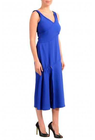 "Hugo Boss Women's ""FD_Demania_C"" Blue Sleeveless Midi Dress: Picture 2"
