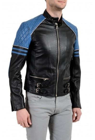 Just Cavalli Men's 100% Leather Multi-Color Full Zip Jacket : Picture 2