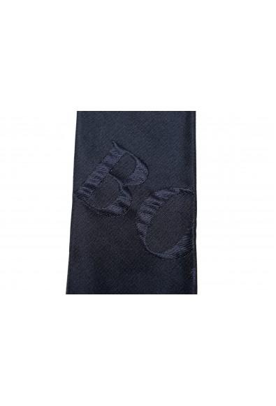 Hugo Boss Men's Navy Blue Logo Print Silk Tie: Picture 2
