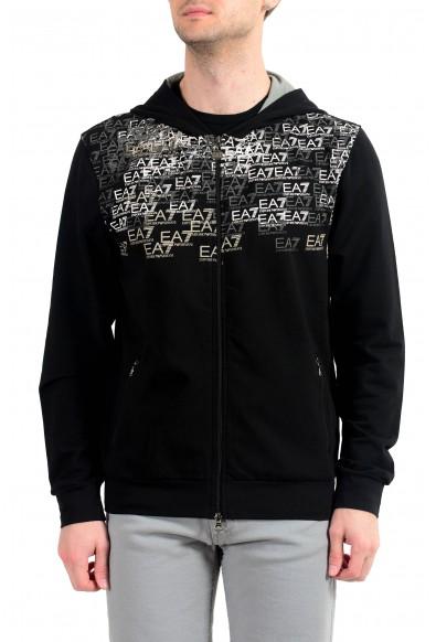 """Emporio Armani EA7 """"Train Premium"""" Men's Black Graphic Full Zip Hoodie"""