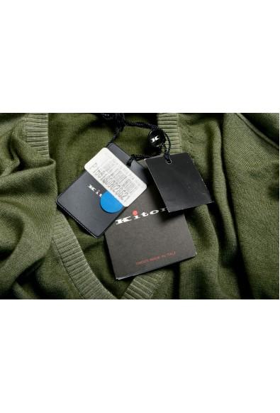 Kiton Men's Green 100% Cashmere V-Neck Pullover Sweater : Picture 2