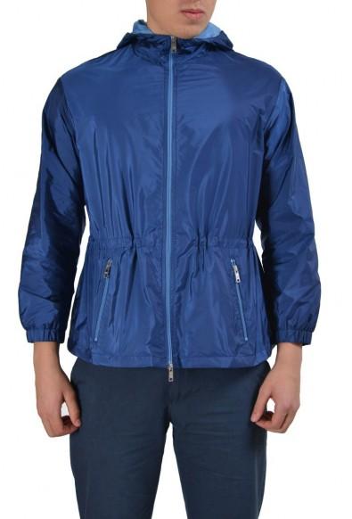 Prada Blue Full Zip Men's Windbreaker Jacket