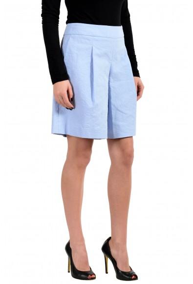 "Hugo Boss Women's ""Tylena"" Blue Pleated Shorts: Picture 2"
