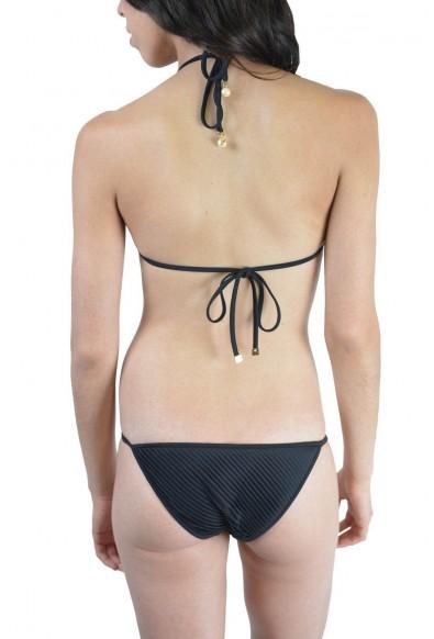 Dsquared Women's Black Beads Decorated Two Piece Bikini Swimsuit US XL EU 46: Picture 2
