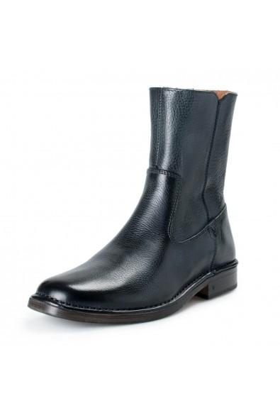 """John Varvatos Men's """"Mercer Zip Boot"""" Leather Zip UP Boots Shoes"""
