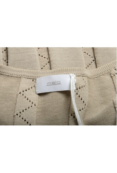 Malo Men's Beige Knitted V-Neck Pullover Sweater: Picture 2