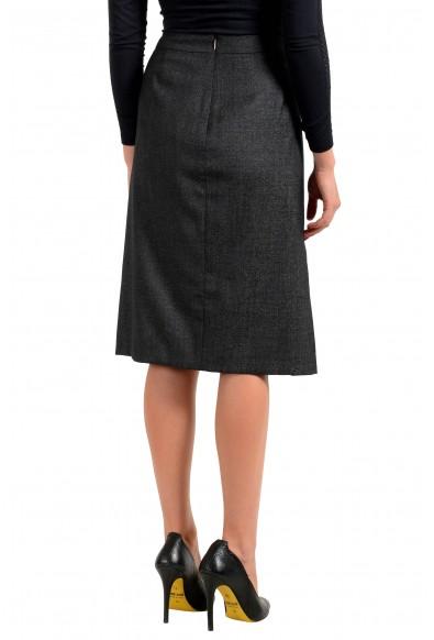 "Hugo Boss Women's ""Vimena"" Gray Wool Straight Pencil Skirt: Picture 2"