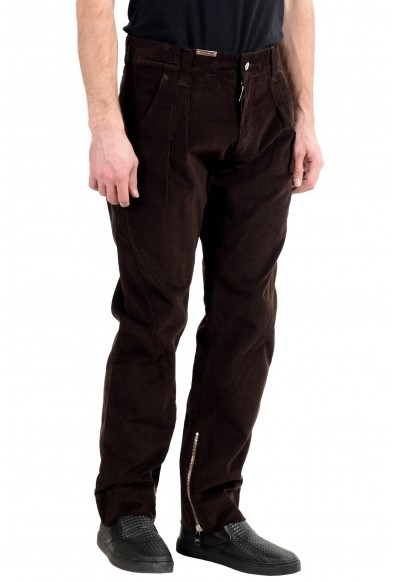 Dolce&Gabbana Men's Brown Pleated Corduroy Casual Pants: Picture 2
