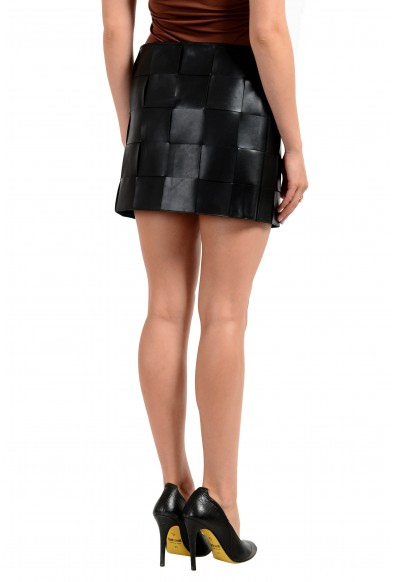 Versus by Versace Women's 100% Leather Black Mini Skirt : Picture 2