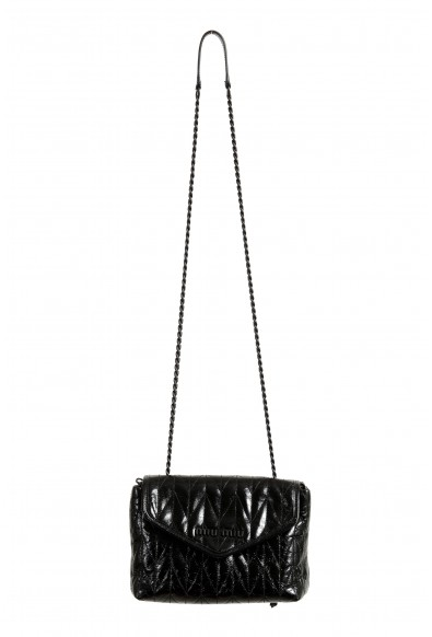 Miu Miu Women's 5BH175 Black Leather Chain Shoulder Bag