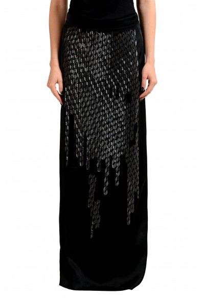 Maison Margiela 2 Black Beads Decorated Women's Maxi Skirt