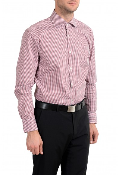 "Hugo Boss ""Miles US"" Men's Plaid Stretch Sharp Fit Long Sleeve Dress Shirt: Picture 2"