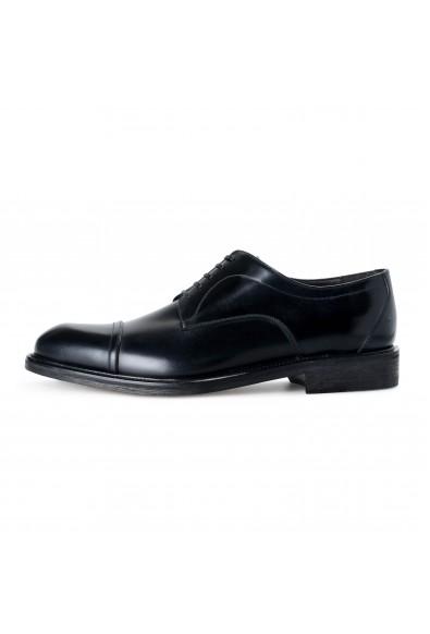 "Salvatore Ferragamo Men's ""Gatto"" Black Leather Lace Up Oxfords Shoes: Picture 2"
