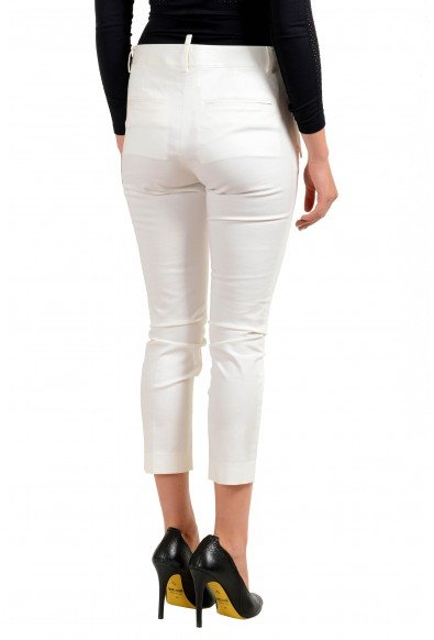 Dsquared2 Women's White Cropped Casual Pants : Picture 2