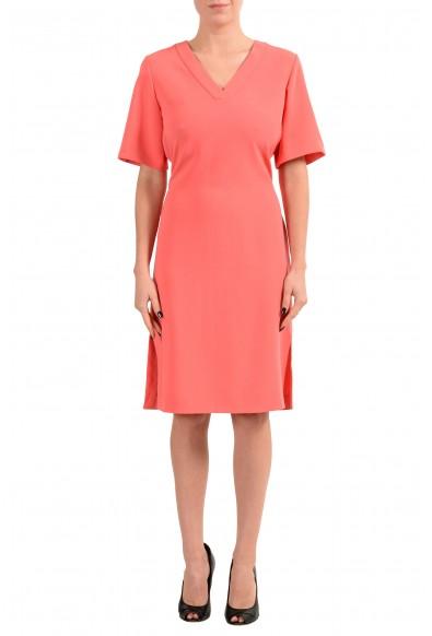 "Hugo Boss ""Dakali"" Women's Peach Short Sleeve Sheath Dress"