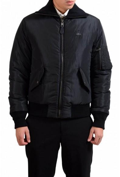 Dolce & Gabbana Men's Black Full Zip Insulated Bomber Jacket