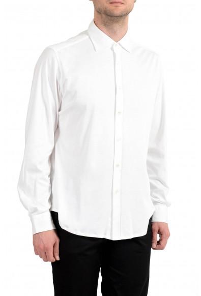 Malo Men's White Long Sleeve Dress Shirt : Picture 2