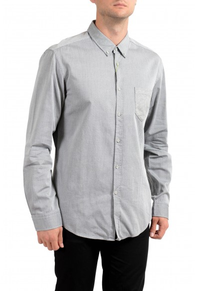 "Hugo Boss Men's ""Bergen"" Gray Slim Fit Long Sleeve Casual Shirt"