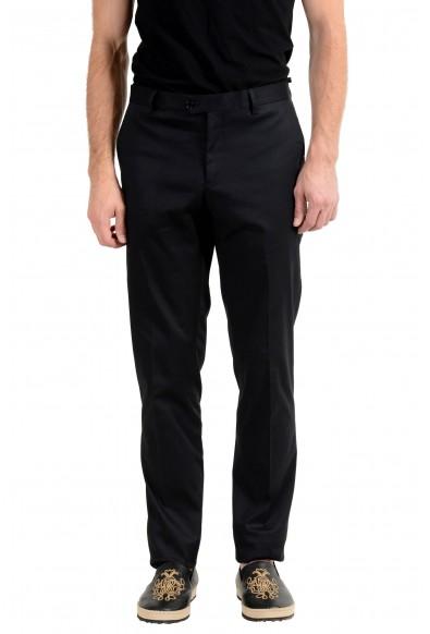 Roberto Cavalli Men's Black Stretch Casual Pants