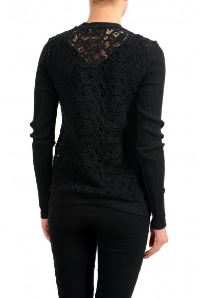Versace Versus Black See Through Women's Crewneck Sweater: Picture 2